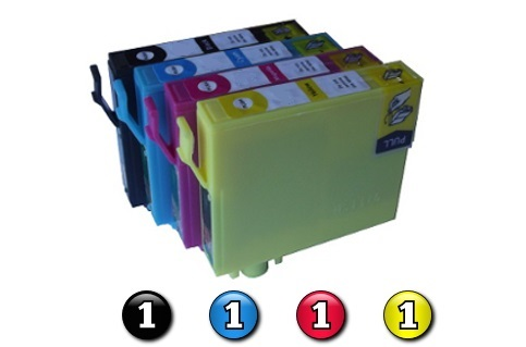 4 Pack Combo Compatible Epson 220XL (1BK/1C/1M/1Y) ink cartridges