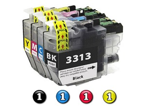 Compatible Brother LC3313 ink cartridges 4 Pack Combo (1BK/1C/1M/1Y)
