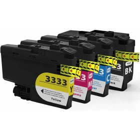 Compatible Brother LC3333 ink cartridges 4 Pack Combo (1BK/1C/1M/1Y)