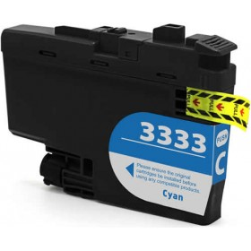 Compatible Brother LC3333C (Cyan) ink cartridge