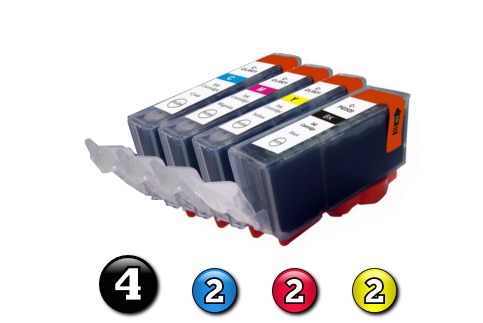 10 Pack Combo Compatible Canon ink cartridges (4 x BCI3eBK + 2 x BCI6C/M/Y)