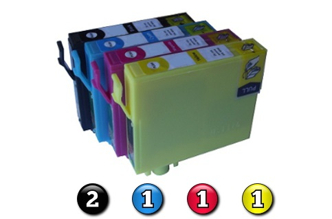 5 Pack Combo Compatible Epson 220XL (2BK/1C/1M/1Y) ink cartridges