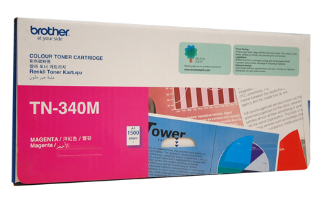 Genuine Brother TN340 Magenta laser toner cartridge