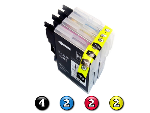 10 Pack Combo Compatible Brother LC39 (4BK/2C/2M/2Y) ink cartridges