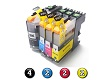 10 Pack Combo Compatible Brother LC233 (4BK/2C/2M/2Y) ink cartridges