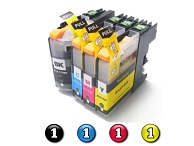 4 Pack Combo Compatible Brother LC233 (1BK/1C/1M/1Y) ink cartridges
