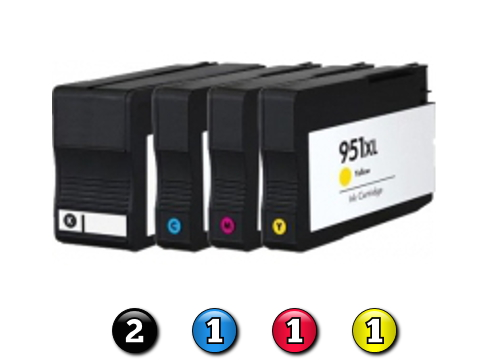 5 Pack Combo Compatible HP ink cartridges HP950XL/HP951XL(2BK/1C/1M/1Y)