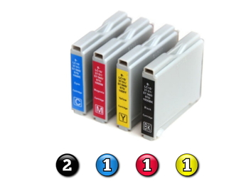 5 Pack Combo Compatible Brother LC57 (2BK/1C/1M/1Y) ink cartridges